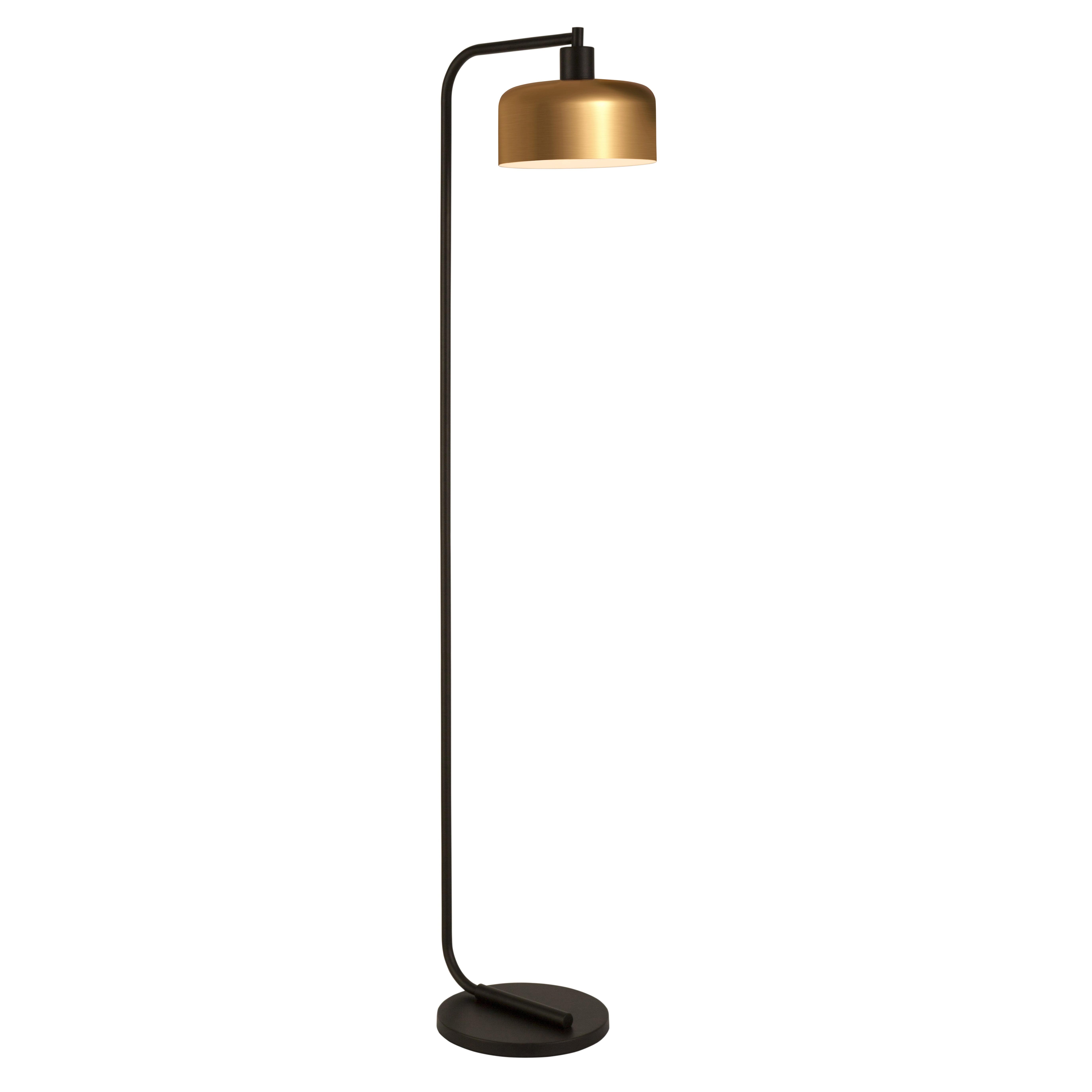 Evelyn Zoe Cadmus Mid Century Modern Metal Task Floor Lamp Brass Walmart Com Walmart Com