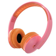 On Ear Headphones with Mic, Jelly Comb Foldable Corded Headphones Wired Headsets with Microphone, Volume Control for Cell Phone, Tablet, PC, Laptop, MP3/4, Video Game (Rose & Orange)