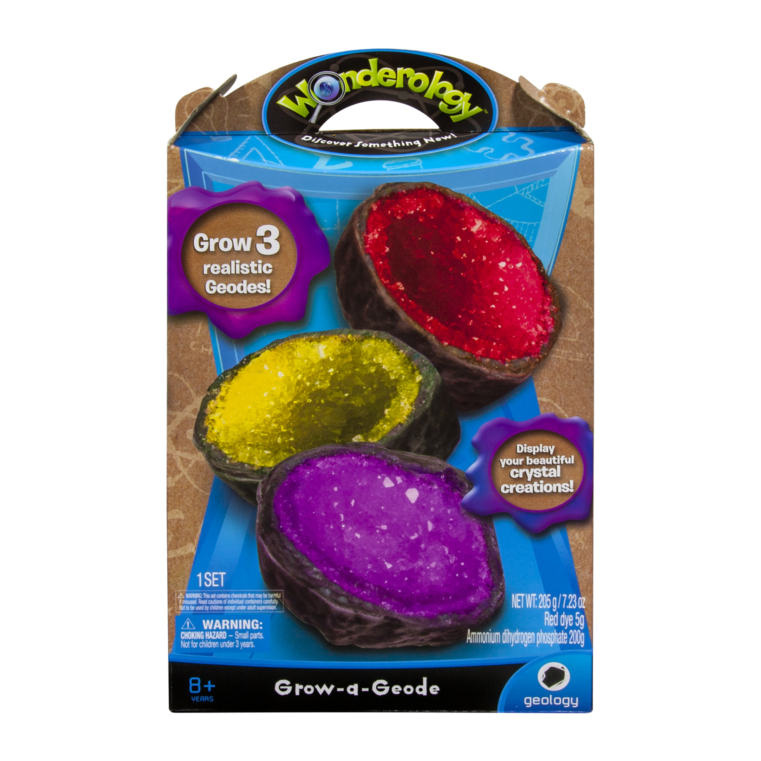 wonderology science kit grow-a-geode