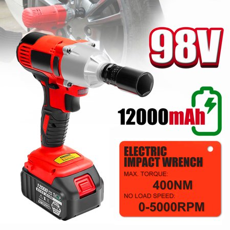 400nm 98v Cordless Lithium Ion Electric Impact Wrench Brushless Motor 2 Battery Portable Christmas Gift