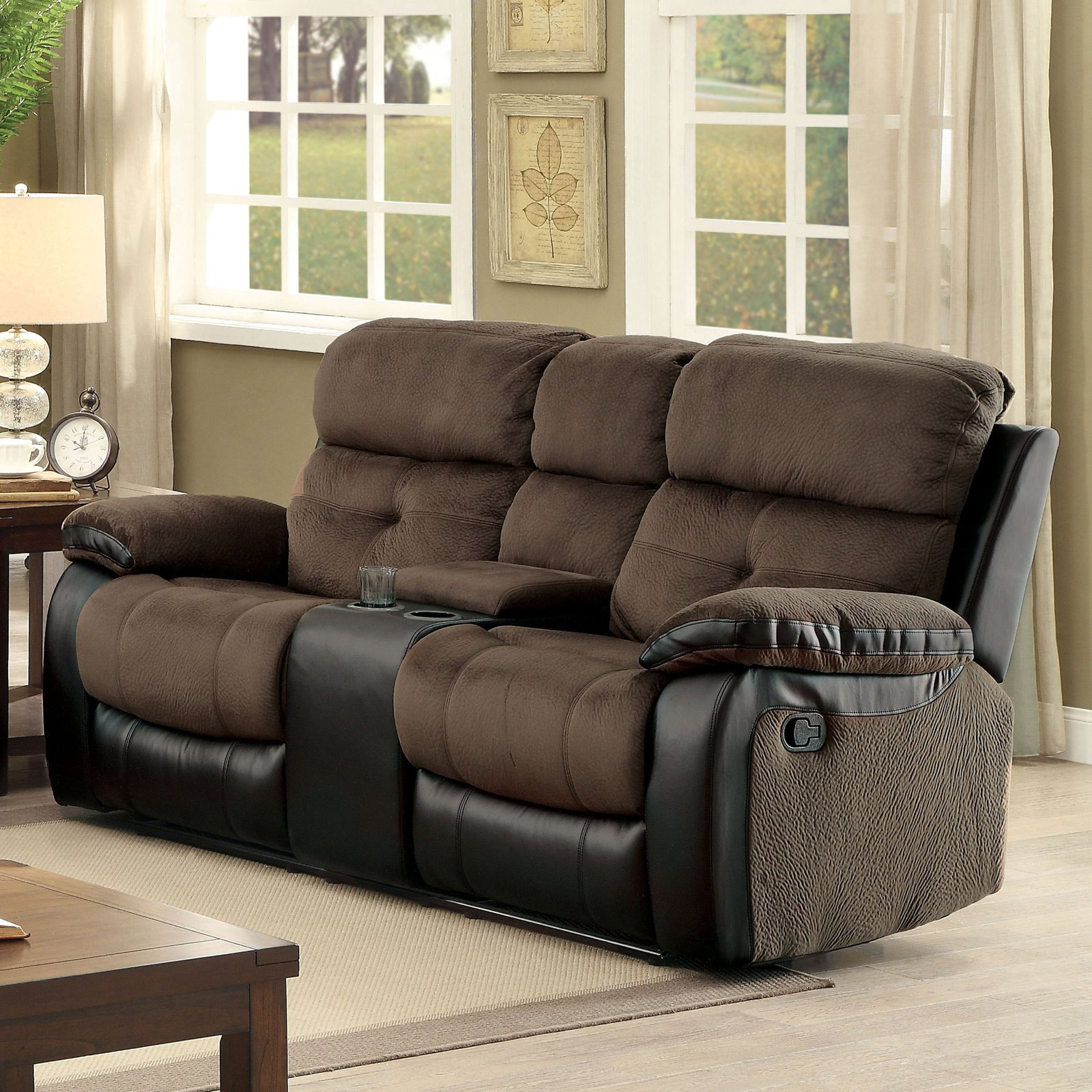 Furniture of America Nelson Reclining Loveseat