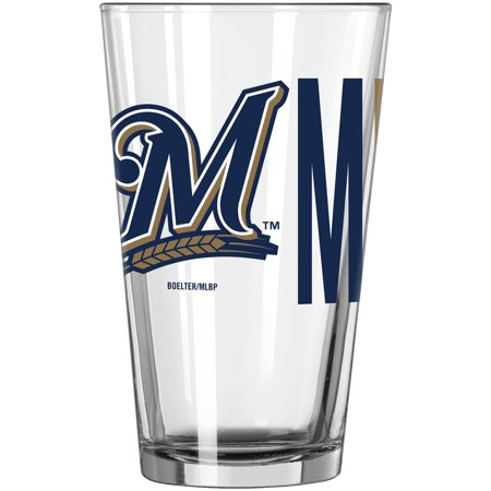 Milwaukee Brewers 16oz. Overtime Pint Glass - No (Boelter Milwaukee Brewers Glass)