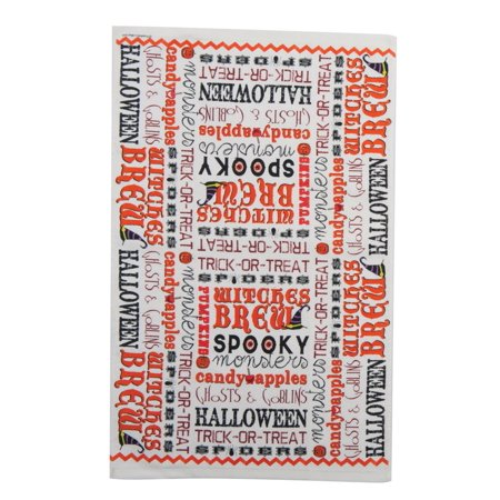 Witches Brew Spooky Monsters Ghosts Goblin Halloween 26 Inch Kitchen Terry Towel - 26 Halloween