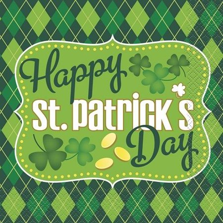 Argyle St. Patrick's Day Party Lunch Napkins, 16ct (St Patrick's Day Party)