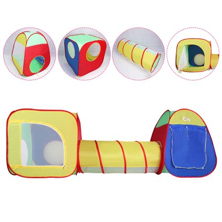 Costway Kids Baby Play Tent Tunnel House In/Outdoor Portable Foldable Children Gift