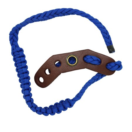 Bow Detail Leather (Safari Choice Archery Durable One Color Leather Braided Bow Sling, Blue )