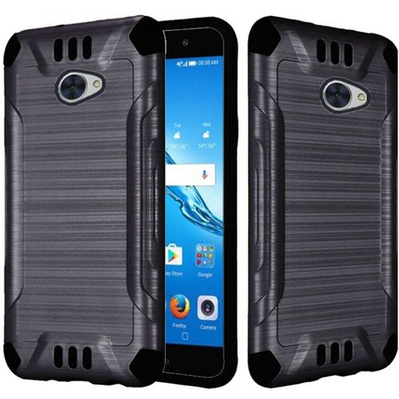 Huawei Ascend XT Case, Dual Layer Shockproof Tough Brushed Hybrid Armor Drop Protection Case Cover For Huawei Ascend XT - Black](huawei ascend g700 cover)