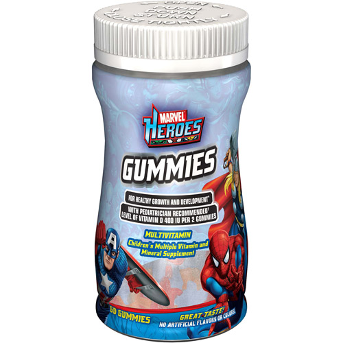 Marvel The Amazing Spider-Man Childrens Multiple Vitamin And Mineral Supplement Gummies 60 ct