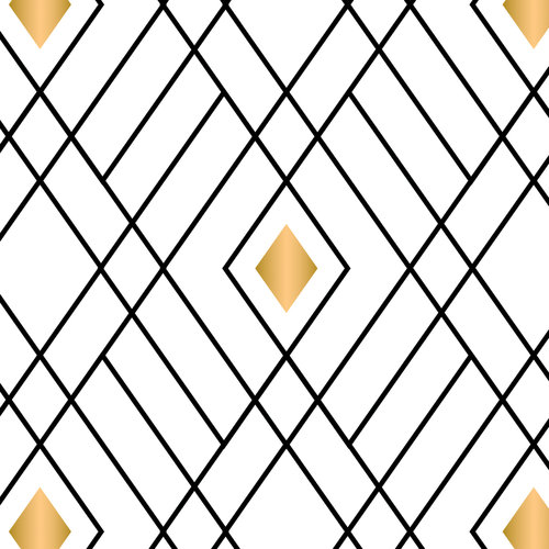 100% Cotton Fabric For Quilting And Crafting By Emma And Mila From The Eve Collection: Diamonds in White