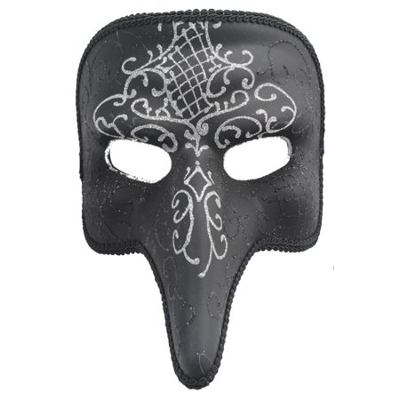 SHORT NOSE MASK - Venetian Costume - MASQUERADE SPARKLE Easy Clear Nose Purge Mask