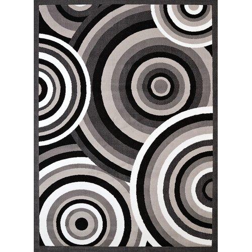 Ebern Designs Eloise Gray/Black Area Rug