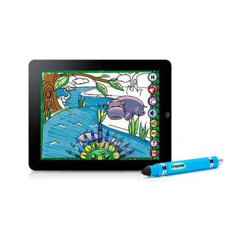 Griffin Crayola Colorstudio HD APP Powered Imarker Digital Stylus for Apple iPad (Blue)