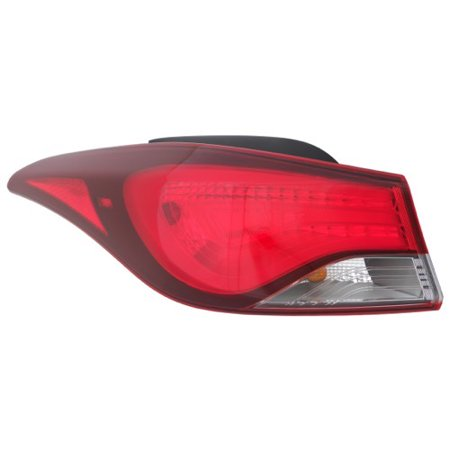 Go-Parts » 2014 - 2016 Hyundai Elantra Rear Tail Light Lamp Assembly / Lens / Cover - Left (Driver) Side Outer 92401-3X230 HY2804130 Replacement For Hyundai (Tail Lamp Assembly Left Driver)