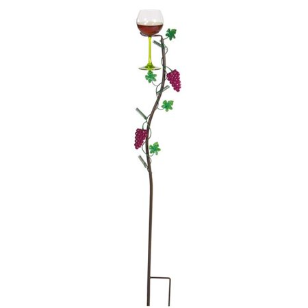 Wine glass holder ground stake - Vineyard
