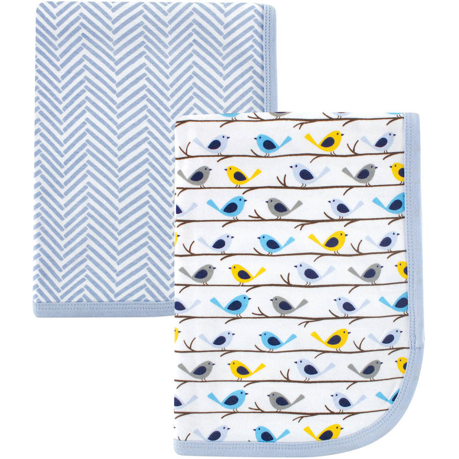 Hudson Baby Interlock Swaddle Blanket, 2pk