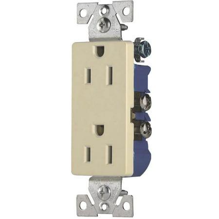 cooper 1107-9a decorator straight blade duplex receptacle, 125 v, 15 a, 2  pole, 3 wire - walmart com