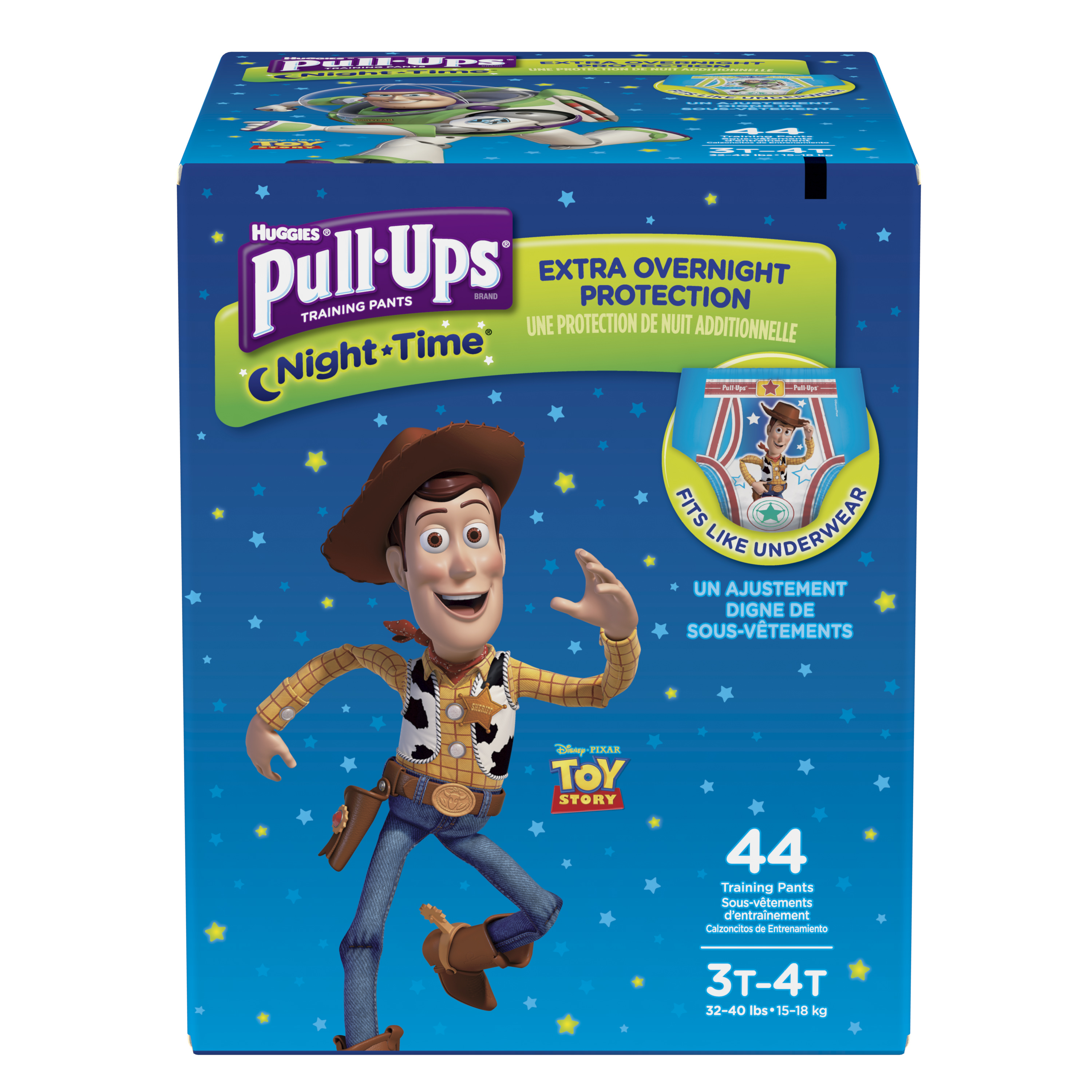 Pull-Ups Boys Night-Time Potty Training Pants (Choose Size and Count)