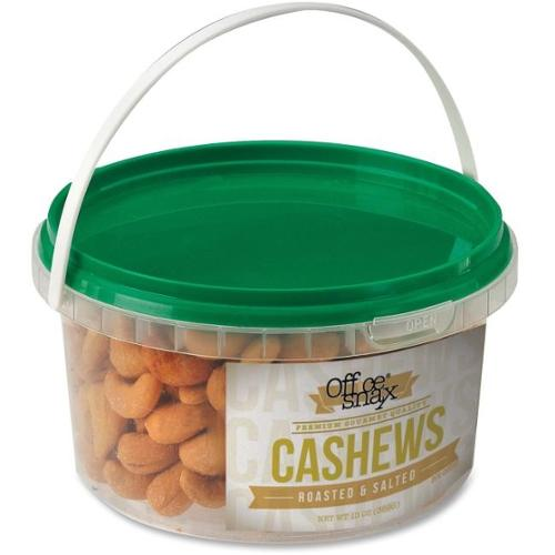 Office Snax Cashew Nuts - Canister - 13 oz - 1 Each