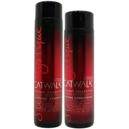 Catwalk Collection (Tigi Catwalk Straight Collection Mystique - Glossing Shampoo 10.14oz  & Calming Conditioner 8.45 oz)