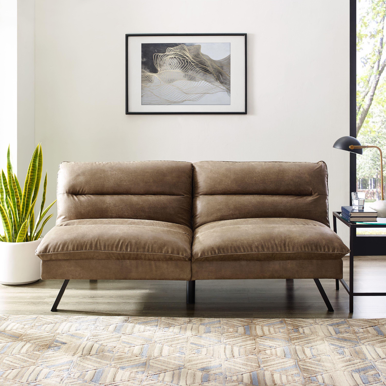 Manhattan Upholstered Convertible Sofa, Multiple Colors ...