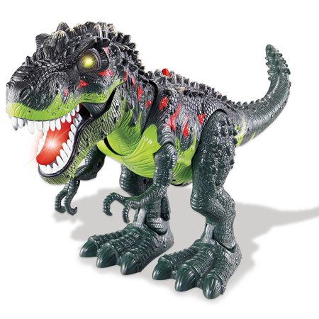 Walking T-Rex Dinosaur Toy, Green - Small Dinosaur Toys