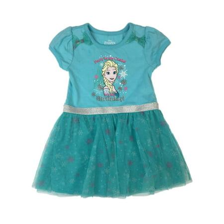 Disney Frozen Girls Blue Elsa Tutu Dress Party In My Castle It's My Birtday](Frozen Tutu)