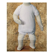 Baby Boys White Embroidered Cross Baptism One Piece Body Suit 3M-12M