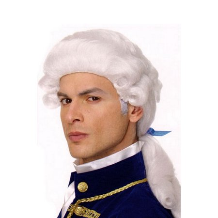 George Costume Wig (White) - White Short Wig