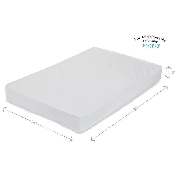 La Baby 3 Mini Portable Crib Mattress Waterproof Walmart Com Walmart Com