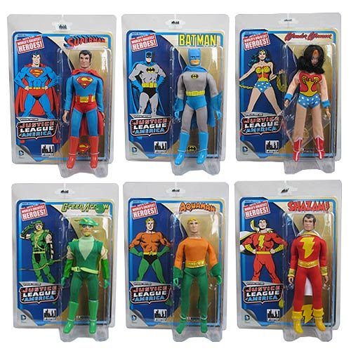 Justice League of America Special Edition 8 Inch Retro Figures: Set of all 6 Figures