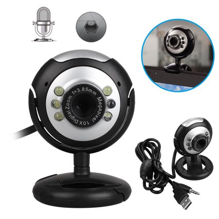 Webcam, TSV USB Mini Computer Camera with Built-in Microphone for Laptops and Desktop,Black (Webcam Microphone)