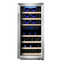 Phiestina 33 Bottle Dual Zone Freestanding Wine Cooler