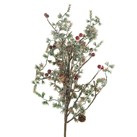 Artificial Red Berry Winter Spray Branch Ornament, (Berry Branch)
