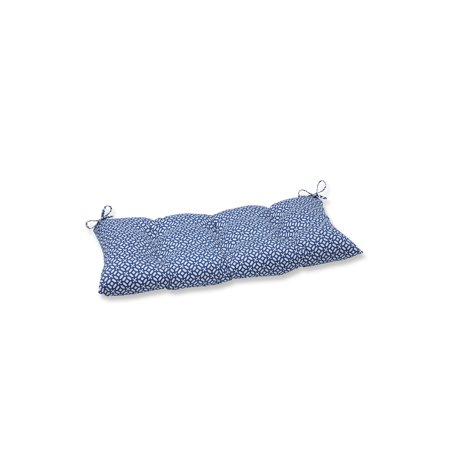 "44""  ""Royal Opulence "" Royal Blue and Pearl White Swing/Bench Decorative Cushion ()"