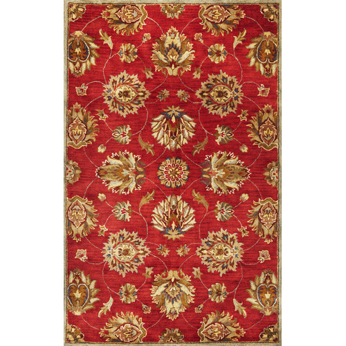 KAS Rugs Syriana Red Allover Kashan Area Rug