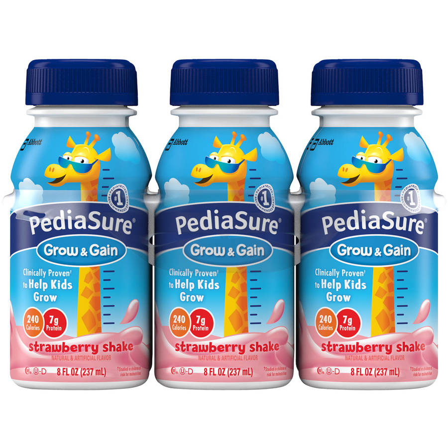 PediaSure Grow & Gain Strawberry Shakes, 8 fl oz, 6 count