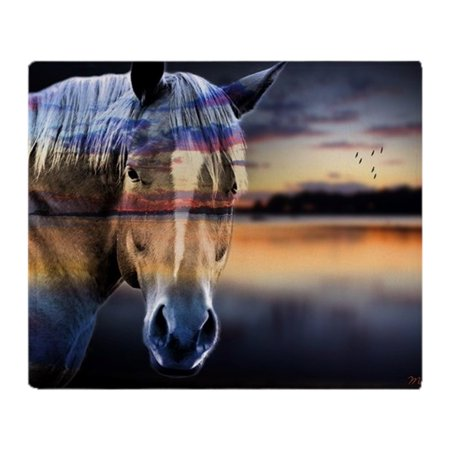"CafePress - Horse - Soft Fleece Throw Blanket, 50""x60"" Stadium Blanket"