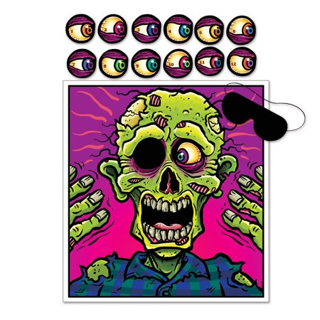 (Pack of 24) Beistle Pin The Eyeball Zombie Game - Halloween Eyeball Orbs