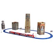 Power Trains Ready to Play Spider-Man New York City Battery Powered Model Train Set