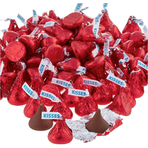 Kisses Milk Chocolate Candy Red Foil, 4.1 lb - Online Only