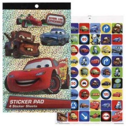 Disney Cars Foil Cover 4 Sheet Sticker Pad with Over 150 Stickers Multi-Colored