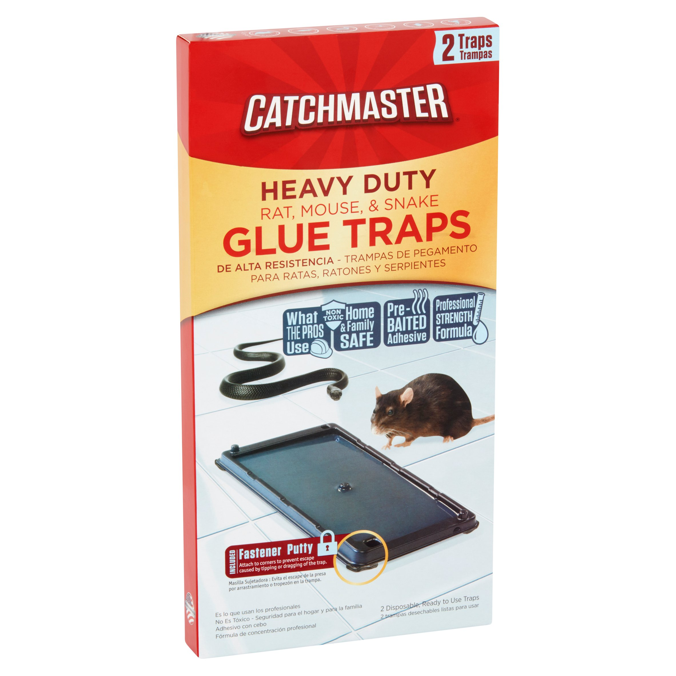 Catchmaster Heavy Duty Baited Rat Glue Traps, 2 ct - Walmart com