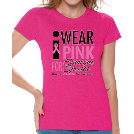 Breast Cancer Awareness Shirts Breast Cancer Shirts for Women Pink Ribbon Cancer - Cancer Womens T-shirt