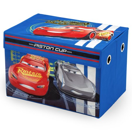 Disney Cars Toy Box (Disney Pixar Cars Fabric Collapsible Toy Box by Delta Children )