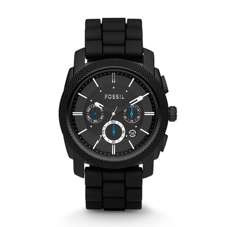 Men's Machine Chronograph Black Silicone Watch (Style: FS4487)