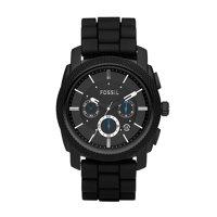 Fossil Men's Machine Chronograph Black Silicone Watch (Style: FS4487)