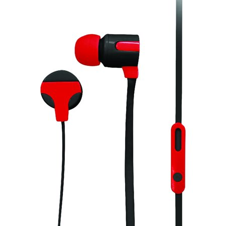 Naxa NE-939RED Ne-939 Red Astra Isolation Stereo Earphones With Microphone [red]