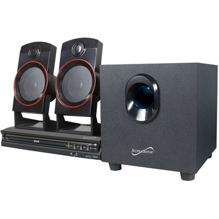 Supersonic 2 1 home theater system 11 w rms dvd player sc 35ht - Home cinema 2 1 blanc ...