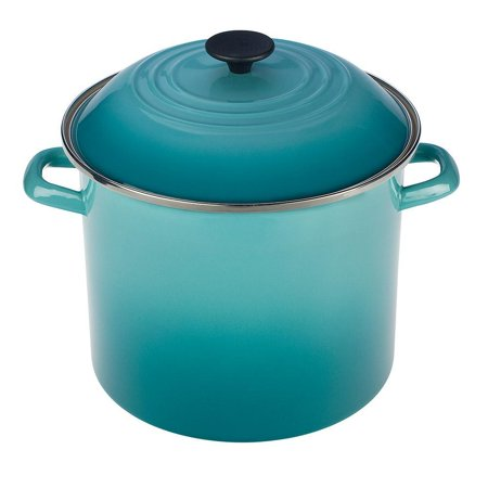 Le Creuset 8 Quart Stockpot Caribbean N 4100 2217 (Le Creuset 1-8 Quart Stainless Steel Tea Kettle)