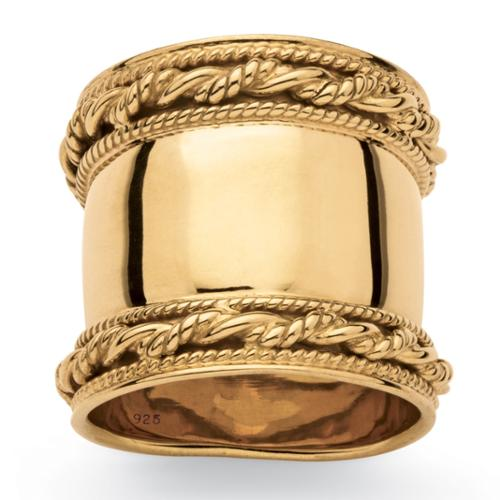 Palm Beach Jewelry Cigar Band-Style Tailored Ring Size 6